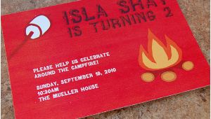 Campfire Birthday Party Invitations Campfire Birthday Party