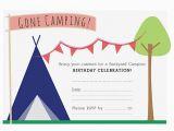 Camping Birthday Invites Camping Birthday Party Invitation