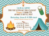 Camping Birthday Invites Camping Birthday Party Invitation Printable Camping Out Party