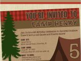 Camping Birthday Invites Camping Party Invitation Camping Birthday Invitation