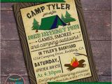 Camping Birthday Invites Camping Party Invitation Campout Party Invitation Printable