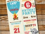 Camping Birthday Invites Camping Party Invitation for A Boy Birthday Party Instantly