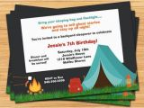 Camping Birthday Invites Camping Party Invitation
