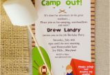 Campout Birthday Party Invitations 6 Best Images Of Free Printable Camp Font Free Summer