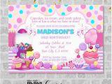 Candy Shoppe Birthday Invitations Candy Shoppe Invitation Sweet Shoppe Ice Cream Candy
