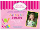 Candy Shoppe Birthday Invitations Candy Shoppe Printable Collection