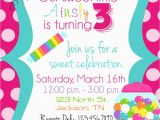 Candy Shoppe Birthday Invitations Candy Sweet Shop Birthday Party Invitations by