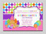 Candy Shoppe Birthday Invitations Candyland Birthday Invitation Sweet Shoppe Candyland Birthday