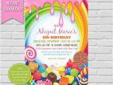 Candy Shoppe Birthday Invitations Candyland Birthday Invitation Sweet Shoppe Candyland Party