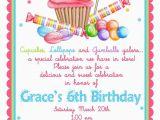 Candy Shoppe Birthday Invitations Sweet Shop Birthday Party Invitations Candy Cupcake