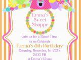 Candy Shoppe Birthday Invitations Sweet Shoppe Birthday Party Invitations Set Of 20 Invites