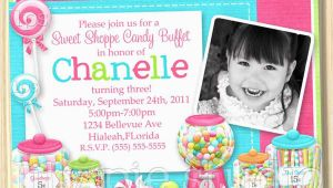 Candy Shoppe Birthday Invitations Sweet Shoppe Buffet Birthday Party Invitation Printable