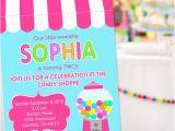 Candy Shoppe Birthday Invitations Sweet Shoppe Party Invitation Sweet 16 Invitation Sweet