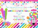 Candy Shoppe Birthday Invitations Sweet Shoppe Pink Birthday Invitation You by