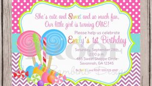 Candy themed Birthday Invitations Candy themed Invitations Template Best Template Collection