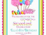 Candyland Birthday Invites Candy Circus Invitations Sweet Shop Birthday Party
