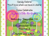 Candyland Birthday Invites Candyland Birthday Party Invitations