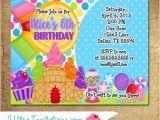 Candyland Birthday Invites Candyland Birthday Party Invitations Printable Digital or