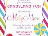 Candyland Birthday Invites Candyland Candy Shop Invitation Printable