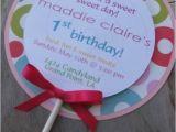 Candyland Birthday Invites Candyland Lollipop Birthday Party Invitations Custom