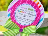 Candyland Birthday Invites Lollipop Invitations Candyland Lollipop Invitations