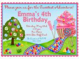 Candyland Birthday Invites Personalized Invitations Oh Sweet Candy Land Candyland