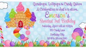 Candyland Birthday Invites Printable Birthday Invitations Girls Candyland Party