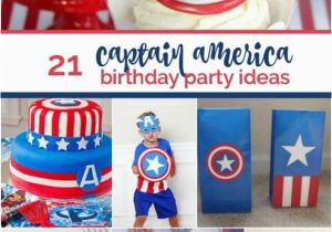 Captain America Birthday Decorations 21 Captain America Party Ideas Spaceships and Laser Beams