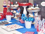 Captain America Birthday Decorations Captain America Birthday Party Ideas Photo 1 Of 23