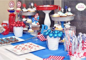 Captain America Birthday Decorations Captain America Birthday Party Ideas Photo 1 Of 23