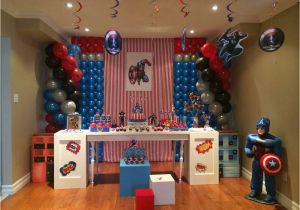 Captain America Birthday Decorations Captain America Birthday Party Ideas Photo 1 Of 32