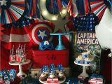 Captain America Birthday Decorations Captain America Birthday Party Ideas Photo 5 Of 19