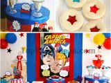 Captain America Birthday Decorations Captain America Party Ideas Paige 39 S Party Ideas