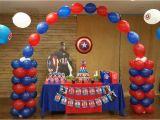 Captain America Birthday Decorations theme Party Lemon Tree