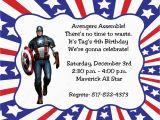 Captain America Birthday Party Invitations 10 Captain America Invitations with Envelopes Free Return