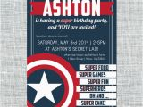 Captain America Birthday Party Invitations Birthday Invitation Cards Captain America Birthday