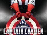 Captain America Birthday Party Invitations Captain America 5×7 Birthday Invitation