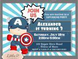 Captain America Birthday Party Invitations Captain America Birthday Invitation Avengers Invitation