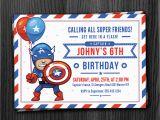 Captain America Birthday Party Invitations Captain America Birthday Invitation Download