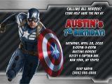 Captain America Birthday Party Invitations Captain America Birthday Invitations Kustom Kreations