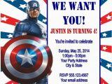Captain America Birthday Party Invitations Captain America Birthday Party Invitation Ideas Bagvania