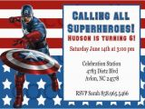 Captain America Birthday Party Invitations Captain America Party Invitation Digital by