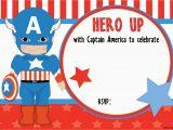 Captain America Birthday Party Invitations Free Printable Captain America Birthday Invitation