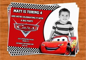 Car Themed Birthday Cards Cars Invitation U Print By Ptycards On Etsy