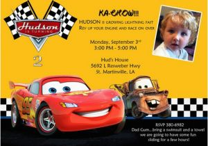 Car Themed Birthday Cards Disney Cars Invitations Ideas Bagvania Free