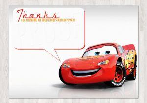 Car Themed Birthday Cards Disney Cars Thank You