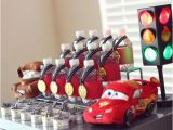 Car themed Birthday Decorations Kara 39 S Party Ideas Disney Cars Lightning Mcqueen Boy Car