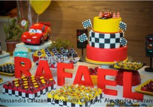 Car themed Birthday Decorations Kara 39 S Party Ideas Lightning Mcqueen Cars Birthday Party