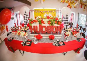 Car themed Birthday Decorations Kara 39 S Party Ideas Race Car themed Birthday Party Via Kara