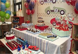 Car themed Birthday Decorations Vintage Race Car themed Birthday Party Planning Ideas